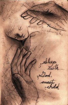 Sleep Baby. Art inspired by miscarriage still birth. Pinned because although it's terribly sad, it is a beautiful tribute.