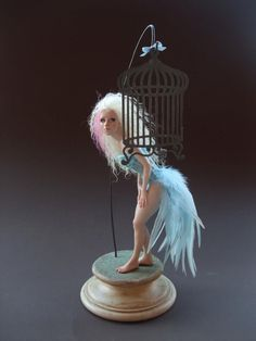 patrizia cozzo art | Polymer clay sculpture by Patrizia Cozzo. #ModernArt #Sculptures