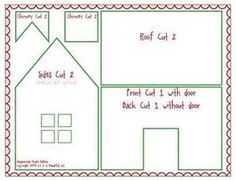 recipe: gingerbread house template printable [25]