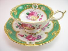 Antique 1940's Paragon Tea cup And Saucer by AntiqueAndCrafts, $65.00