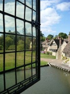 The view from Anne Boleyn's Bedroom, Hever Castle.