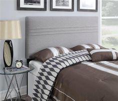 Hayden Silver Wood Fabric Full/Queen Upholstered Headboard-4/6-5/0