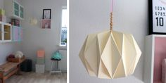 Origami papirs lampe DIY + et fedt link til papirsfold