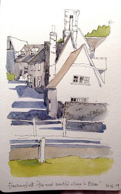 My line sketch from yesterday, with watercolour washes | por John Harrison, artist