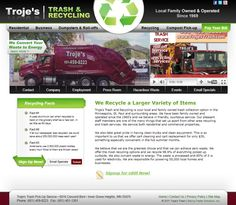 Web design for Troje's Trash. Faster Solutions: www.fastersolutions.com