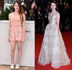 Mackenzie Foy In RED Valentino & Oscar de la Renta – 'The Little Prince' Cannes Film Festival Photocall & Premiere