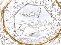 Excited to share this item from my shop: Octagon Crystal Candy Dish with Etched Bird Design on Gold Metal Base with Talon Feet Antique Items, Vintage Items, Any Birds, Bird Design, Brass Metal, Candy Dishes, Vintage Home Decor, Hostess Gifts, Anniversary