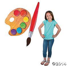 A fun decoration for art classrooms or kids playrooms! Cardboard. (2 pcs. per set) Palette, 31 1/2 x 24 1/2, brush 5 x 52. © OTC