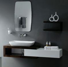 Bathroom Sink Paint Pleasant Enchanting Modern Black Decoration Using Mount Wall Cherry Wood