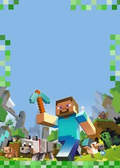 Anniversaire Minecraft - Creepers, pixels et TNT ⋆ Geek Dad Power! Minecraft Birthday Invitations, Minecraft Birthday Party, 7th Birthday, Minecraft Posters, Minecraft Images, Minecraft Templates, Minecraft Printable, Minecraft Party Decorations, Minecraft Wallpaper