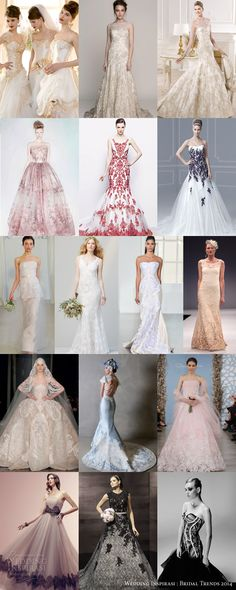 Bridal Trends 2014 : Color, Color, Color — Colored Lace/Embroidery | Wedding Inspirasi