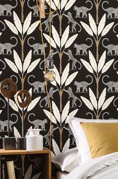 Art Deco Wallpaper, Painting Wallpaper, Wallpaper Samples, Pattern Wallpaper, Motifs Art Nouveau, Motif Art Deco, Art Deco Pattern, Classic Wallpaper, White Wallpaper