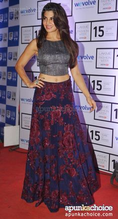 jacqueline fernandez in Lakme Fashion Week 2015.
