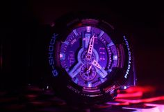 Facebook fan's photo of the GA110 illuminated in the dark! #GShock