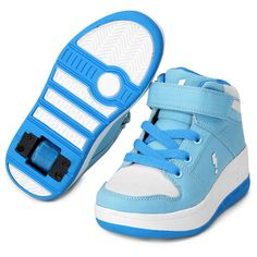 Tênis com Rodinha Zeep Starlight Infantil - Azul+Branco