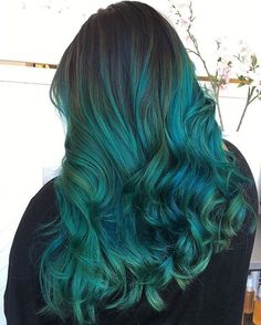 It's all about that teal hair.