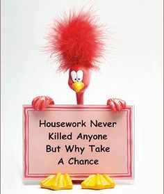 housework--also not my favorite thing to do