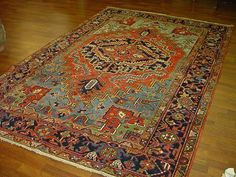 Antique Persian Heriz , from northwest Persia,size 9ft.4 inches by 6ft. circa 1910.