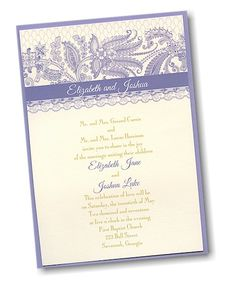 Playful Patterns Layered Wedding Invitation ly $1 89 each when