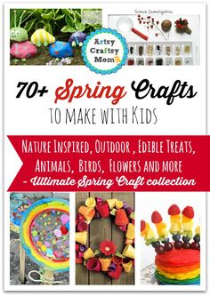 72 Fun, Easy Spring Crafts for Kids + 1500$ giveaway + 70 Spring Crafts to make with kids + Spring Crafts and Childrens Activities Spring activities and crafts Recycled Crafts PipeCleaner Crafts Pasting activities Kids Spring Crafts Fun Spring Break Activities for Children Edible Crafts – Creative food craft ideas Childrens Activities for Spring 72 Indoor Kid Activities & Crafts great for spring break