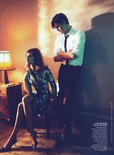 Natalia Vodianova & Sam Riley by Mert Alas and Marcus Piggott for American Vogue, Sept 2011 #fashion #editorial