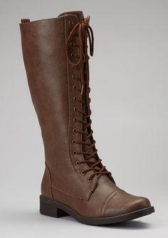 Brown Andrea Lace-Up Boot