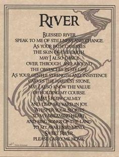 "River Prayer poster 8 1/2"" x 11""."