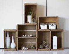 Natural Wood Apple Crate. Idea for using crates in home decor. In bedroom for a display?
