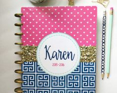 Happy Planner 10 mil Laminated Cover by PaperDollDesignsShop
