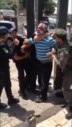 Israeli police BEAT Palestinian Zaki Sabah