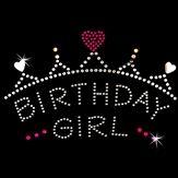 Hot Fix Motif Birthday Girl