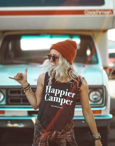 The Parks Apparel Happier Camper Muscle Tank