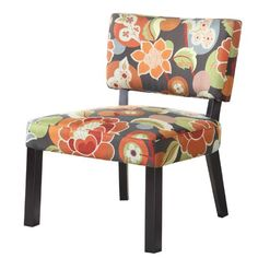 Powell Bright Floral Print Accent Chair *** For more information, visit image link.Note:It is affiliate link to Amazon.