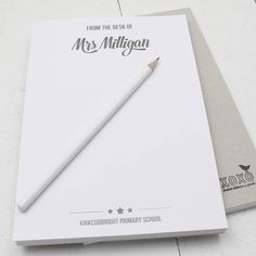 Personalised 'From The Desk Of…' A5 Notepad (Miss Hall)