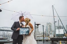Pin for Later: If You Love Gloomy Weather, You'll Adore This Gorgeous Rainy Wedding