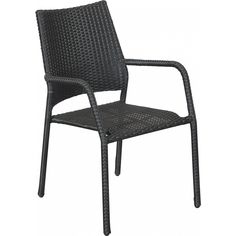 Metallirunkoinen musta Lisa puutarhatuoli, polyrottinkipunos.
