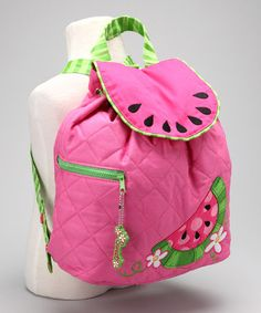 Take a look at this Watermelon Quilted Backpack by Stephen Joseph on #zulily today! - For school, maybe?