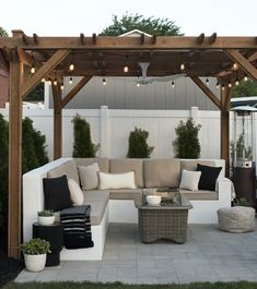 The Happiness of Having Yard Patios – Outdoor Patio Decor Small Backyard Patio, Pergola Patio, Diy Patio, Backyard Pools, Backyard Gazebo, Pergola Kits, Modern Pergola, Back Yard Patio Ideas, Gazebo Ideas
