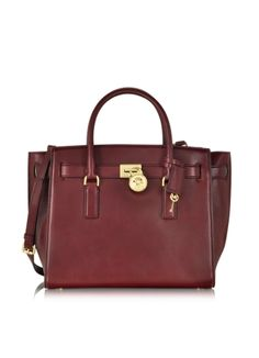 Michael Kors Hamilton Traveler Large Leather Satchel
