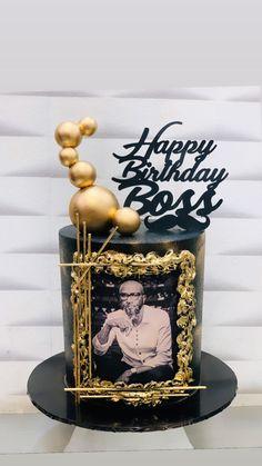 Modern Birthday Cakes, 30th Birthday Cakes For Men, Cute Birthday Cakes, Bolo Chanel, Lane Cake, Cake Design For Men, Alcohol Cake, Bithday Cake, Cake Decorating Designs
