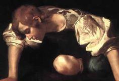il Narciso di Caravaggio si riflette nell'acqua 1597 #waterworlday
