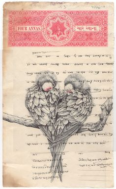 ALTERED EPHEMERA -Illustrations by Mark Powell behance l tumblr