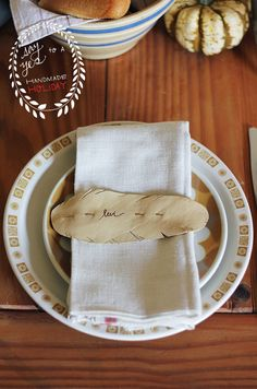 Leather Feather Place Cards   Say Yes to Hoboken