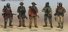 (Mostly) finished set of drawings for grad portfolio. Human Militaries in the New World Continent Character Concept, Character Art, Concept Art, Larp, Andreas Hofer, Wessel, Fallout Art, Alternate History, Character Design