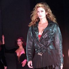 Cindy Crawford walked for Gianni Versace 1991
