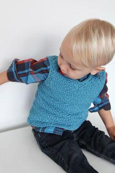 Knitted Vest Patterns for Boys - Sand Vest #knit #texture #knitting #vest