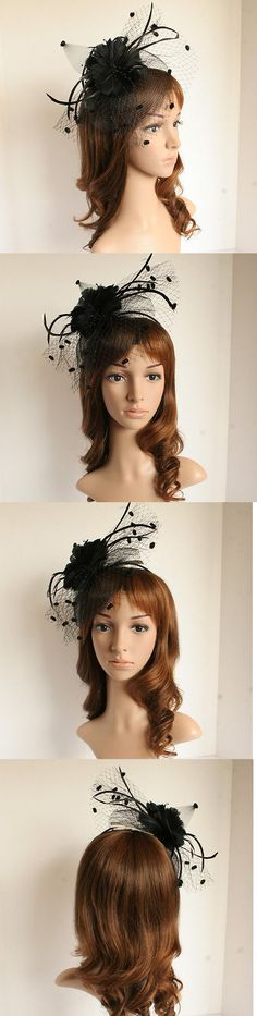 Womens Formal Hats 131476  New Church Derby Bridal Wedding Polyster W Two  Cute Feathers Fascinator 1cca9aef0fdc