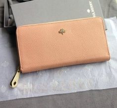 Spring Summer 2015 Mulberry Collection Outlet- Mulberry Tree Zip Around Wallet Pink Grainy Leather