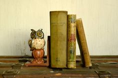 Vintage Owl Book End by WanderingBeauty on Etsy