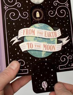 Book Cover Illustration and Hand Lettering for 'From the Earth to the Moon'. © Jim Tierney 2012